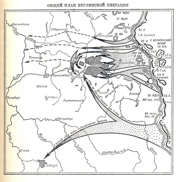 Общий план берлинской операции